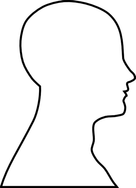 free headshot template outline clip at clker vector clip