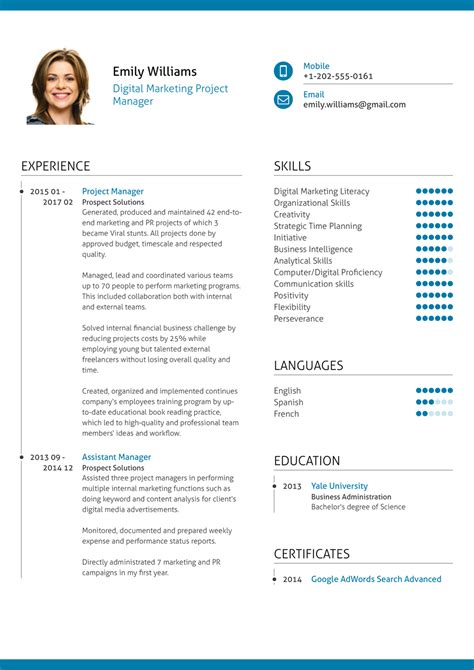 Project Manager Resume by Project Management Professional Resumes Ideal Vistalist Co
