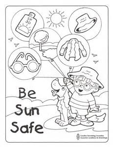 sun safe colouring sheet science pinterest summer
