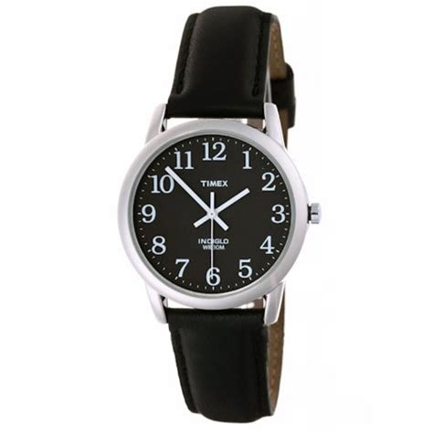 Expedition 6646 Silver Black Leather Black Original timex mens analog silver tone steel black leather indiglo t2n398 timex timex