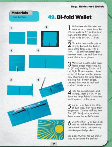 Printable Directions For A Duct Tape Wallet | more cool duct tape projects geekdad girls c