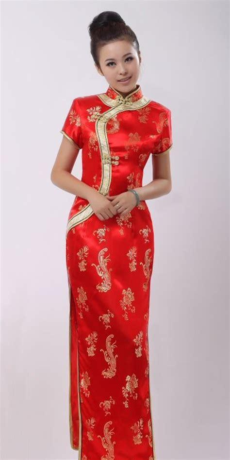 baju cheongsam modern red cheongsam scarlet woman pinterest