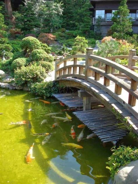 koi pond bridge 17 beautiful japanese garden bridge designs