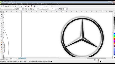 membuat logo di corel draw x5 cara membuat logo mercedes benz dengan corel draw versi