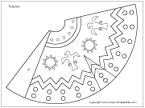 native american teepee printable templates coloring
