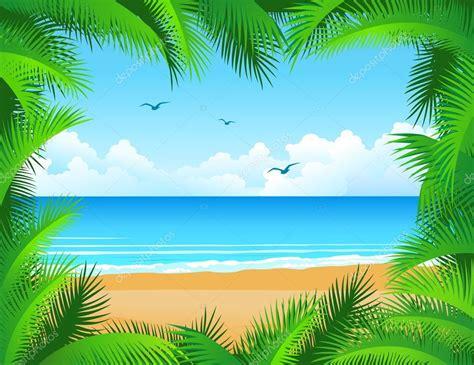tropical beach background stock vector  dagadu