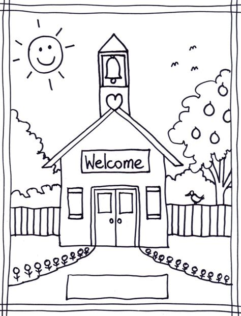 coloring page school coloring pages of school house coloring pages wallpaper