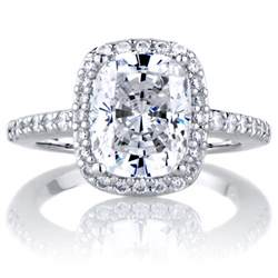 Cushion Cut Halo Engagement Rings Halo Ring Halo Ring Cushion Cut