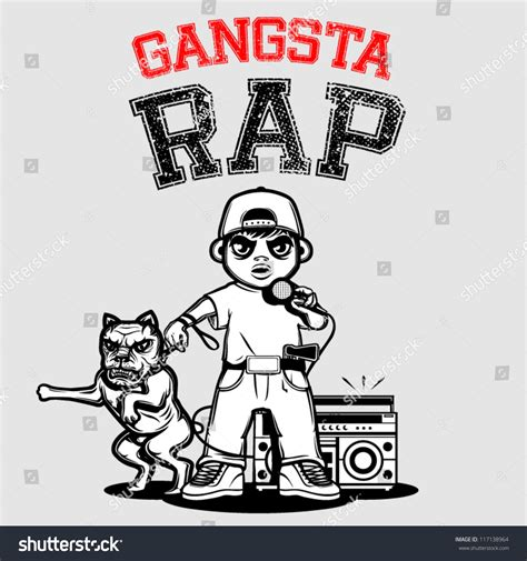 Tshirt Gangsta Rap gangsta rap t shirt special series ilustraci 243 n vectorial