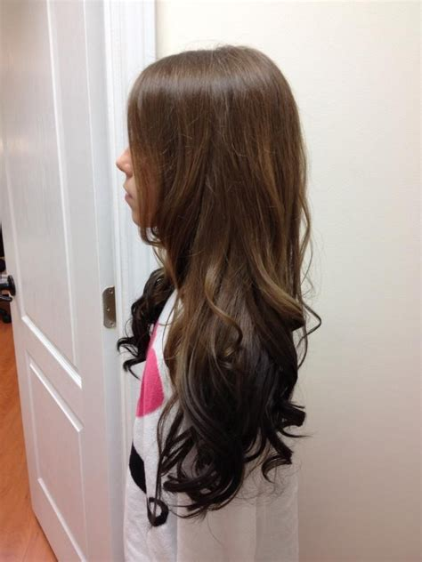 reverse ombre hair color for brunettes reverse ombre kids cuts pinterest my hair reverse