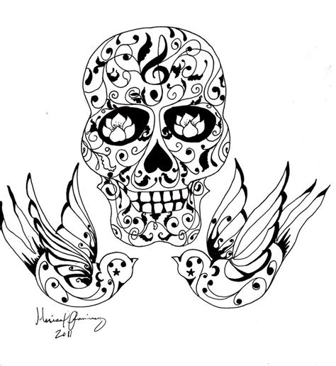 tattoo pictures to color tattoo coloring pages coloring pages skull skull tattoo