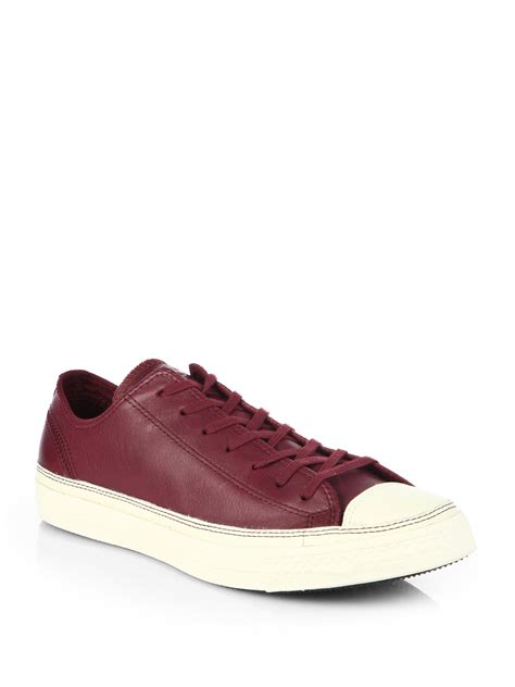 burgundy sneakers mens converse craft leather sneakers in for burgundy