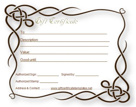 design your own certificate templates formal gift certificate template beautiful printable gift