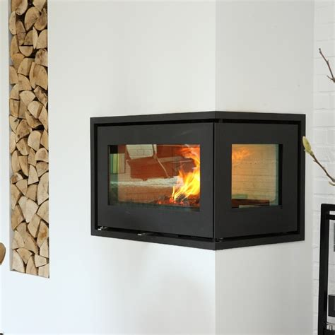 Corner Wood Burning Fireplace Inserts by The Rais 500 2 With Glass On Two Sides Makes A Unique
