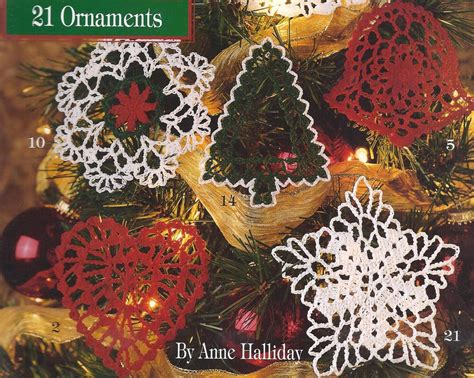 21 thread crochet christmas tree ornaments angel snowflake