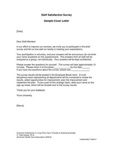cover letter exles questionnaires questionnaire cover letter sle the best letter sle