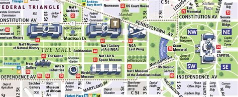 washington dc map of attractions washington map attractions