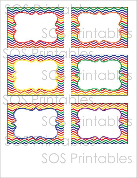 printable party labels rainbow party labels printable pdf editable instant