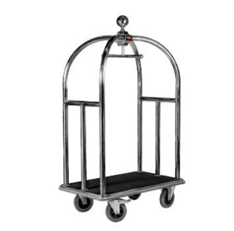 Trolley Bellboy 5 stainless steel bellboy luggage trolley wagen