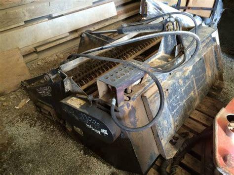 bobcat landscape rake rock hound skid steer attachment