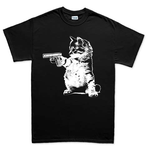 tshirt pistol s cat gun t shirt forged from freedom