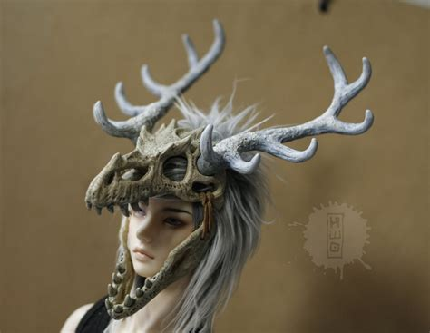 Medieval Dragon Home Decor commission ice dragon skull headdress by hikigane on