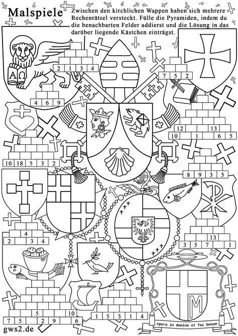 Vorlage Word Mittelalter wappen zum ausmalen rechenspiele f 252 r kleine heraldiker
