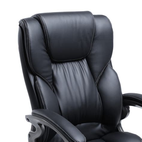 ergonomic leather office chair black pu leather high back office chair executive task