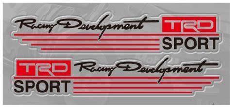 Emblem Toyota Calya 15cm Racing Development Trd Car Mirror Stickers Decal Logo