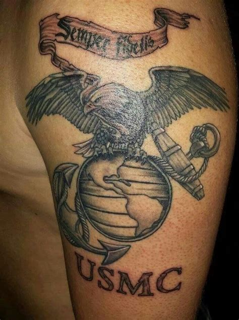 eagle globe and anchor tattoo eagle globe anchor