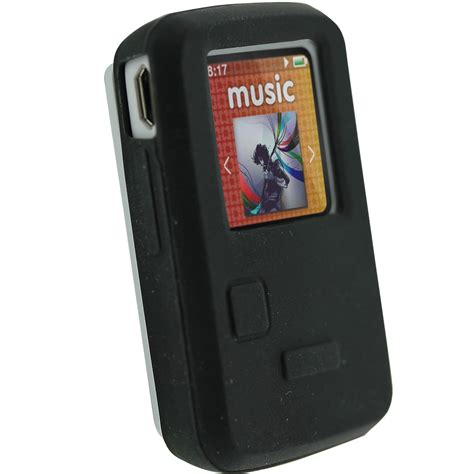 The Mp3 Player That Gives You Skin by Igadgitz Black Silicone Skin Cover For Sandisk Sansa