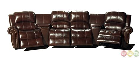 Theatre Style Couches by Living Poseidon Cocoa Brown Leather Theater Style