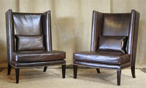 Leather Wingback Armchair Design Ideas Clinton Modern Wingback Chair Clinton Modern Wingback Chair Rejuvenation Emerson Et Cie