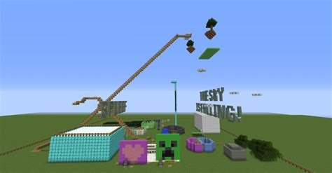 theme park popularmmos theme park map for popularmmos minecraft project