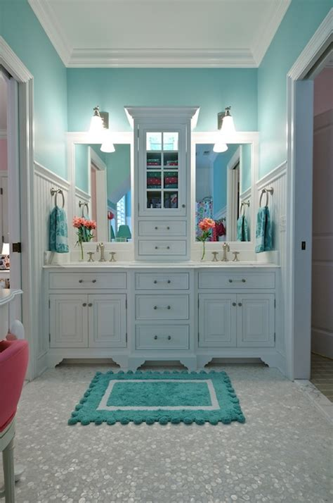 white and turquoise bathroom turquoise bathroom contemporary bathroom tr building