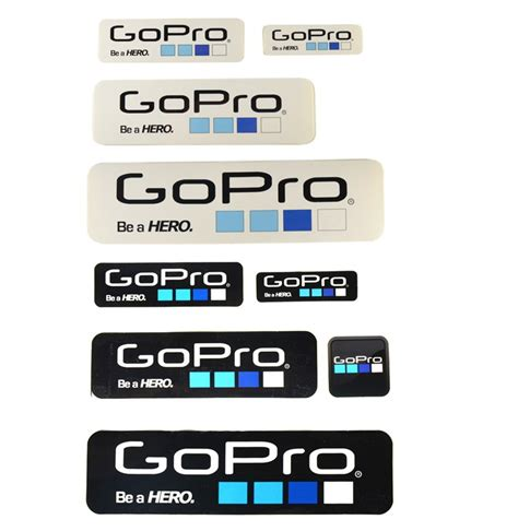 Gopro Aufkleber Gratis by 9 Pieces Black And White Stickers With Go Pro Logo