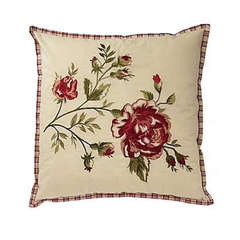 bed bath and beyond norfolk buy waverly 174 norfolk reversible cabbage rose throw pillow