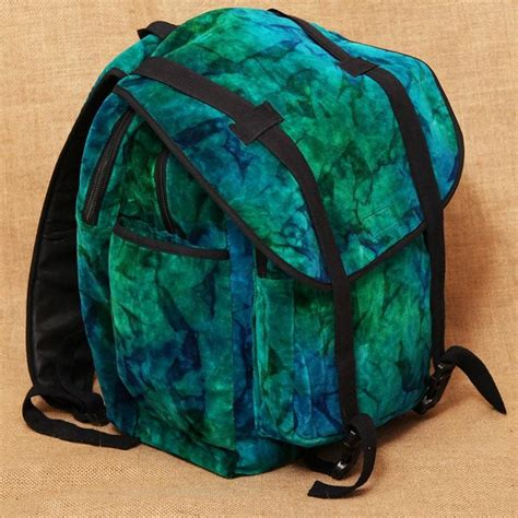 tie dye cotton velour backpack the hippy clothing co