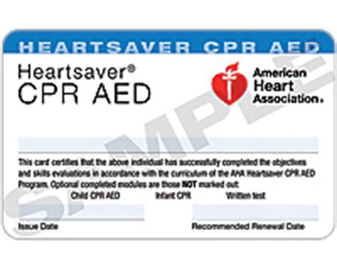 heartsaver aid cpr aed card template greater kansas city metro area heartsaver cpr aed all