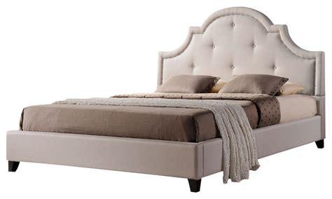 platform bed linens baxton studio colchester linen modern platform bed