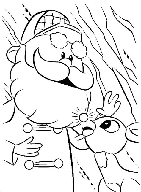 baby rudolph with santa coloring pages rudolph coloring