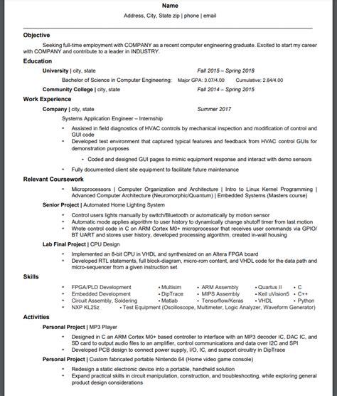 Resume Critique by Zydeco100 U Zydeco100 Reddit