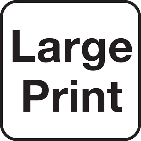 and large print books file pictograms nps accessibility large print svg