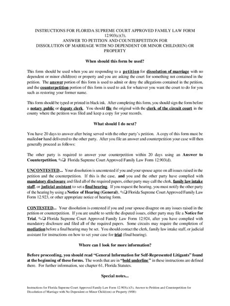 Response Letter For Divorce divorce forms 266 free templates in pdf word excel