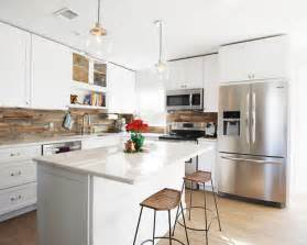 Houzz Kitchens Backsplashes small transitional open concept kitchen idea in orlando with an