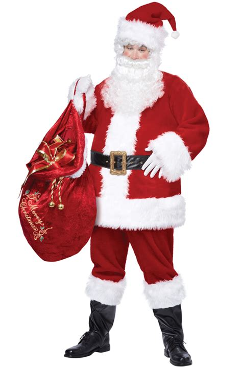 deluxe santa claus suit christmas plus size costume ebay