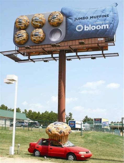 outdoor advertising ideas great outdoor interactive advertising for a muffins by