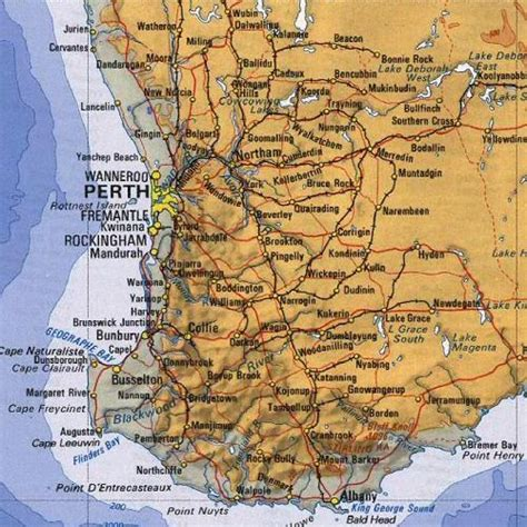 map world fremantle trips city maps and australia on