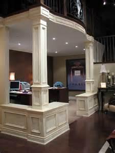 Basement Home Office Ideas 71 Best Columns Interior Decorating Half Wall Bookshelf