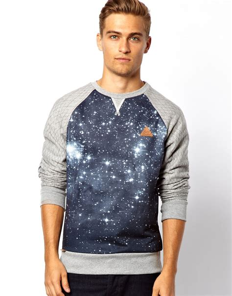 Sweater Rock rock revival galaxy sweater in gray for grey lyst